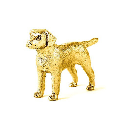 (Labrador Retriever Made in UK Artistic Style Dog Figurine Collection 22ct Gold Plated)