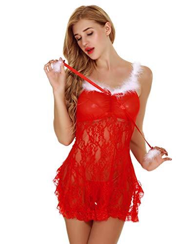 Serie Lingerie S Lace Woman Noel Red Feelingirl xxl Erotic Sexy 1 5XZpnwq