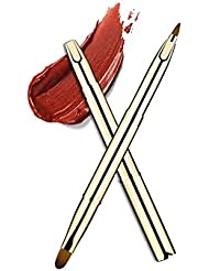 ON SALE Double-Sided Retractable Lip Brush Travel Lipstick Gloss Makeup Brush (Gold-Double sided)
