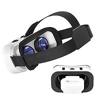 Casque de réalité virtuelle 3d, Hotweild 3d Virtual Reality téléphone portable [4.7–15,2cm] casque Google Carton Lunettes VR avec lentille réglable Big, élastique et micro Sangle pour un Plaisir de jeu et de cinéma [, iOS, Android et Microsoft System Compatible]