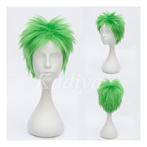 [Kadiya Short Green Boy Cosplay Wig Heat Resistant Synthetic Hair] (Roronoa Zoro Costumes)