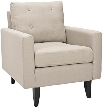 Safavieh Mercer Collection Curtis Beige Club Chair - the best living room chair for the money