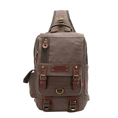 Backpack Diagonal Unisex Shoulder Armygreen Bag qff6BYxH
