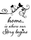 Home Is Where Our Story Begins Stencil Mylar For Pillows, Signs, And More.