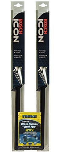 "Bosch 17"" ICON Wiper Blade Bundle with Rain-X Glass Cleaner Wipe (3 Items)"