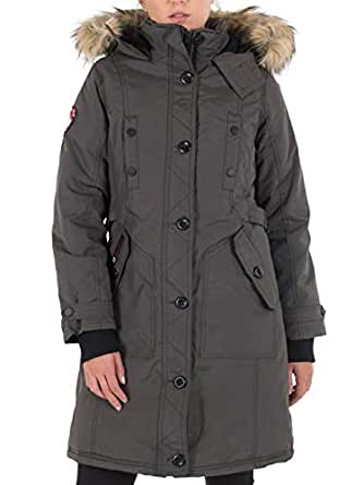 3fcb9735 Amazon.com: CANADA WEATHER GEAR Women's Long Outerwear Jacket with ...