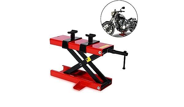 Plataforma Elevadora Mecánica para Reparación de Motocicletas, Elevador de Tijera Motos de Taller, Carga 500kg / 1100LBs, Acero al Carbono: Amazon.es: Coche y moto