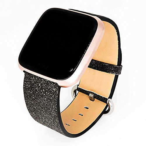 Ketuan Fashion Watch Band Luxury Bling Star Glitter Leather Wrist Strap Strap Watch Band for Fitbit Versa Lite