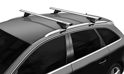 Barre Portatutto Portapacchi BMW X3 2004/>2010 Auto Brio XL 135 Menabo Alluminio