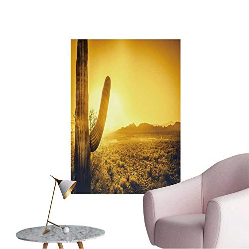 "Wall Decoration Wall Stickers Epic Desert Sunset Over Valley of The Sun,Phoenix,Scottsdale,Arizona with Saguaro Cactus Print Artwork,12""W x 20""L"