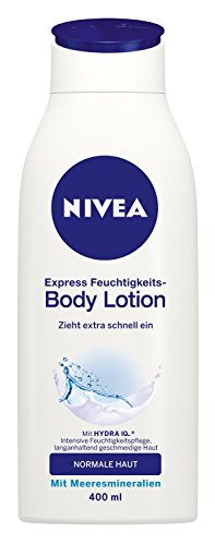 Nivea Express Feuchtigkeits-Body Lotion, 3er Pack (3 x 400 ml)
