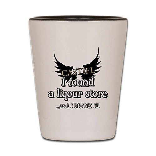 CafePress SUPERNATURAL DRANK Glass Unique