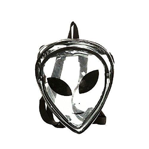 Zarapack Women's Transparent Clear Tasche Handtasche Rucksack aus PVC