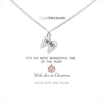 00974d72e Life Charms Angel Wings Christmas Necklace: Amazon.co.uk: Office Products