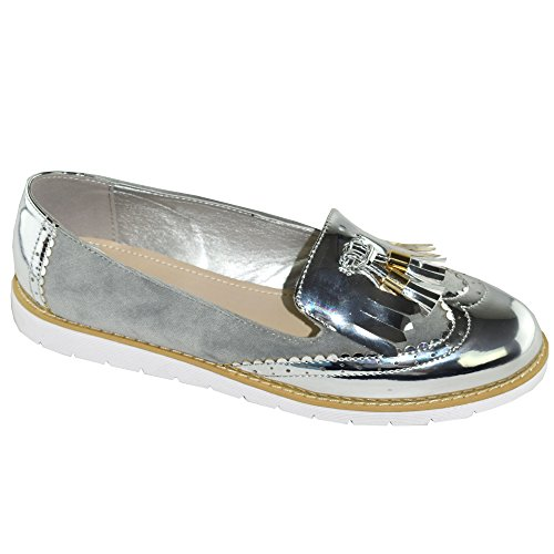 Silver Silver Mocassins Pour Shelikes Shelikes Femme Pour Mocassins Shelikes Mocassins Femme gaPEn
