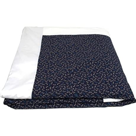 J Life Authentic Traditional Japanese Kakefuton Kakebuton Silk Filled Comforter Double Size 82 X 92 Tombo Navy