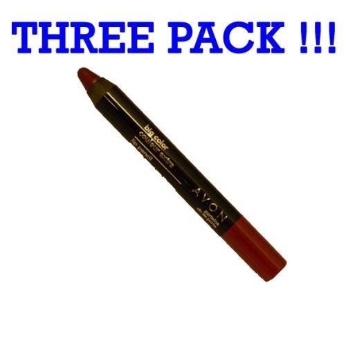 (Lot of 3 Avon Big Color Lip Pencil in shade Portwine)