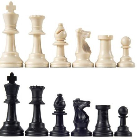 "Staunton Tournament Chess Pieces, Triple Weighted with 3.75"" King and 2 extra Queens"
