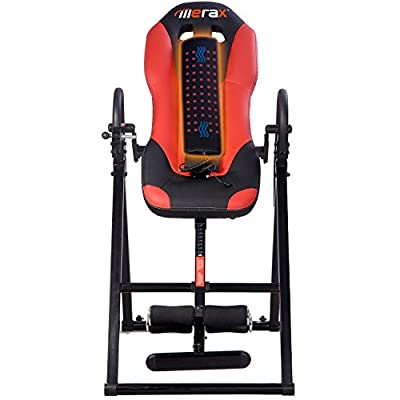 Merax Vibration Massage & Heat Comfort Inversion Table with Ultra-Thick Back Support­