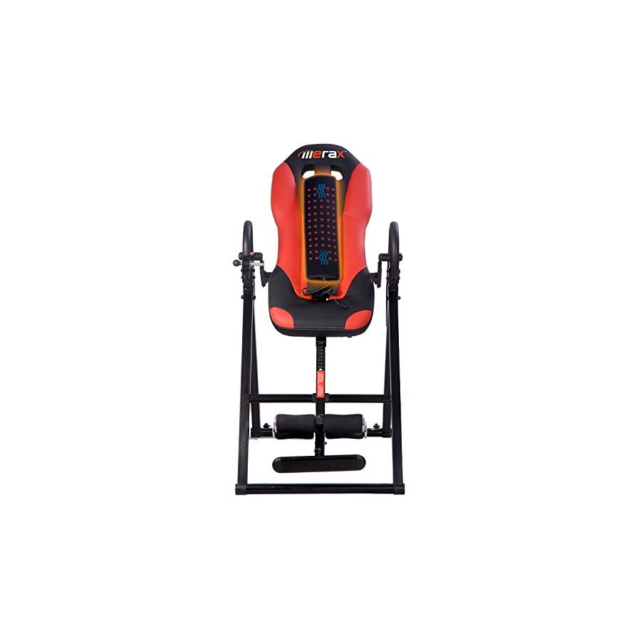 Merax Vibration Massage & Heat Comfort Inversion Table with Ultra Thick Back Support