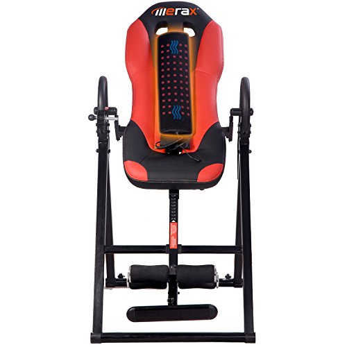 Merax Vibration Massage & Heat Comfort Inversion Table with Ultra Thick Back Support­