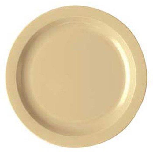Cambro 10CWNR148 - Polycarbonate Dinnerware Narrow Rim Plate, 10