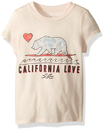 - Billabong Girls' Big Cali Love Waves Short Sleeve Tee, Peony, M