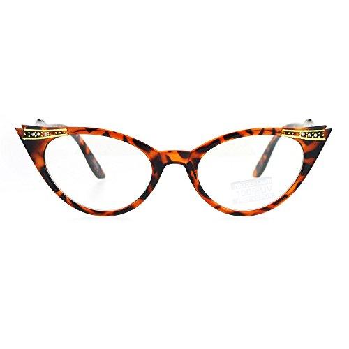 Victorian Art Nouveau Rhinestone Snug Small 20s Cat Eye Glasses - Glasses 1920s