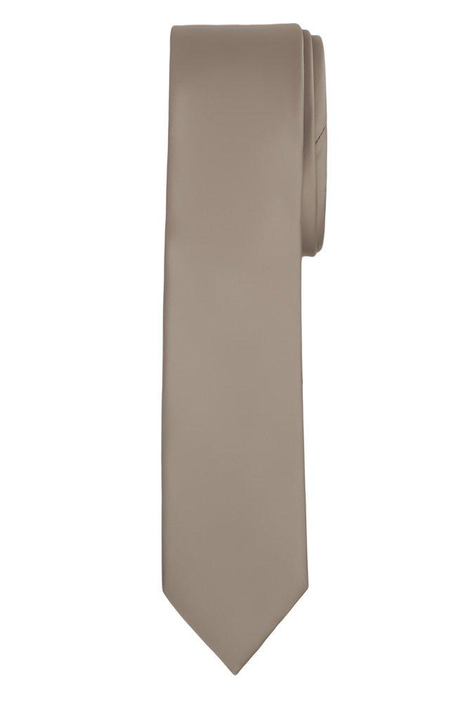 Jacob Alexander Men's Skinny Width 2 Solid Color Tie - White JPSST004