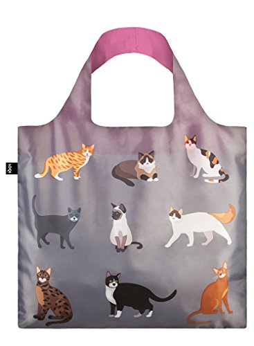 LOQI Reusable Tote Bag, Cat's Meow