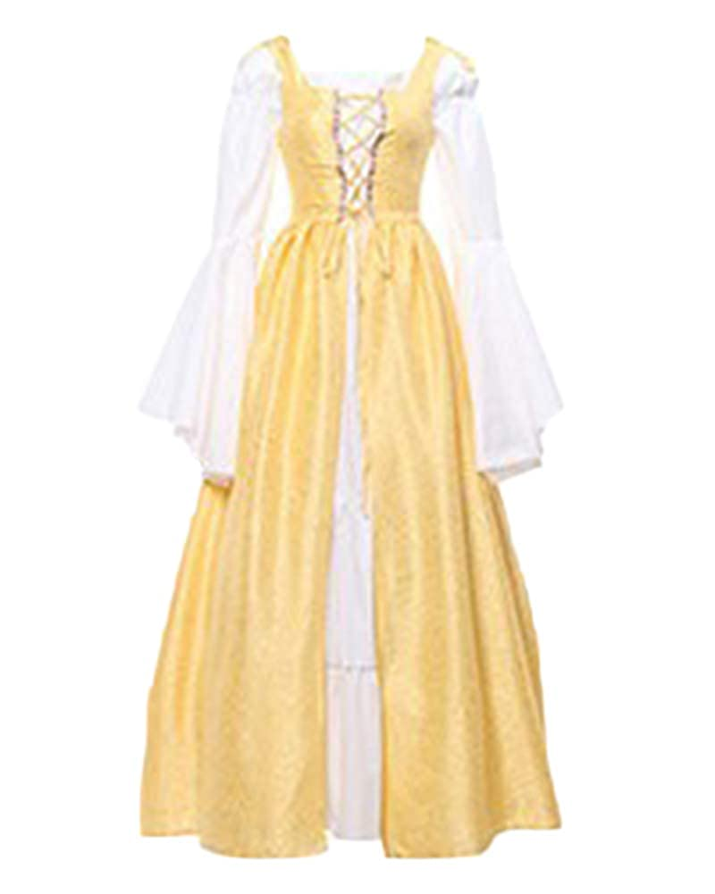 LaoZanA Disfraz Traje Medieval para Mujer Gótico Vintage ...