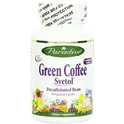 Paradise Herbs Vegetarian Capsules, Svetol Green Coffee Bean, 60 Count
