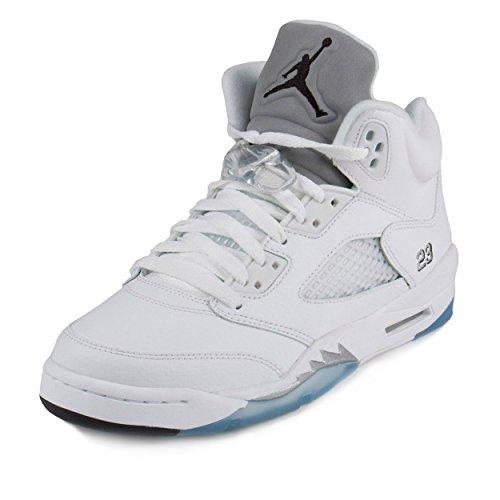 timeless design 23b8e b30ea Nike Jordan Kids Air Jordan 5 Retro Bg White Black Metallic Silver  Basketball Shoe 5 Kids US - Buy Online in UAE.   Shoes Products in the UAE  - See Prices, ...