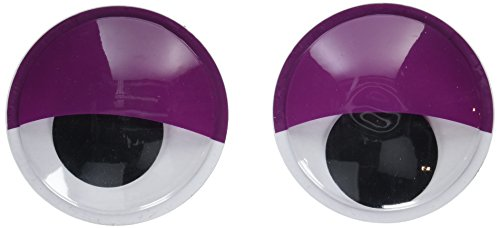 Darice 30007838 Large Self-Adhesive Googly Eyes-Sleepy Look