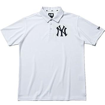 55957558e15f9 NEW ERA(ニューエラ) ニューエラ ゴルフ ポロシャツ ニューヨーク・ヤンキース 鹿の子ポロ ホワイト(11556833