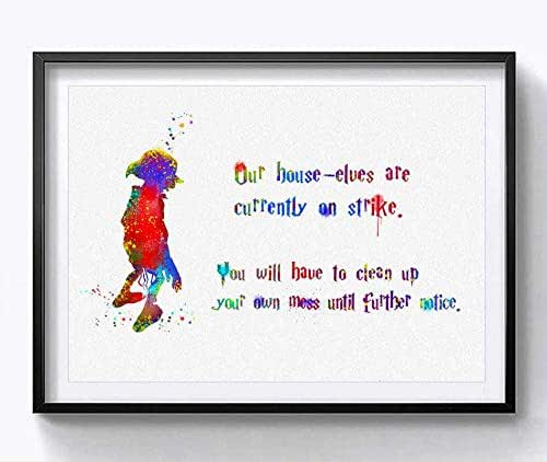 Amazon Com Harry Potter House Elf Dobby Quotes Wall Art Poster