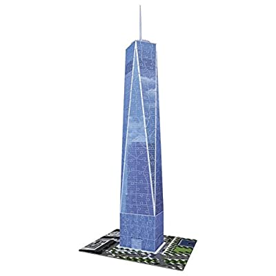 Ravensburger One World Trade Center NY 216 Piece 3D Jigsaw Puzzle for Kids and Adults - Easy Click Technology Means Pieces Fit Together Perfectly: Toys & Games