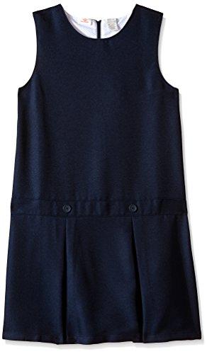 (Dockers Big Girls' Uniform Pleated Jumper, Navy,)