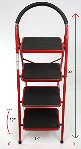 Rv Windshield Ladder Jumbo 4 Step Stool Xl Steps Heavy