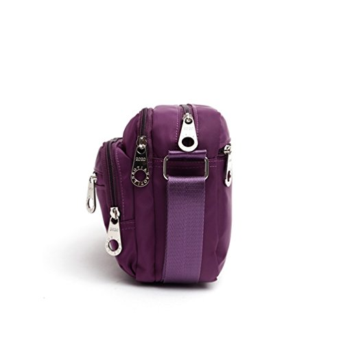 Women Casual Messenger A Bag Day Hiking Body AOTIAN PURPLE Closure For For Bags Cross Shoulder Bag Zipped Bag qwqB7OzI