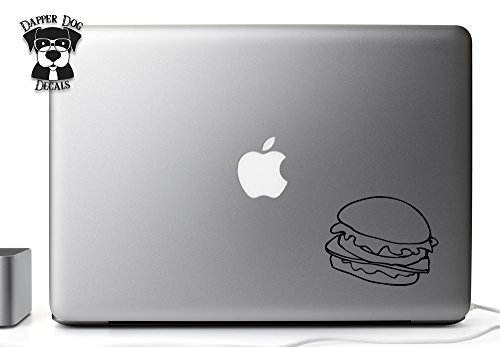 Burger Fast Food 5 Inch Vinyl Decal Sticker for MacBook Air Pro Laptop Notebook Auto Great Gift Mac PC Computer