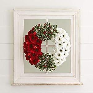 BrylaneHome Poppy & Holly Wreath 4