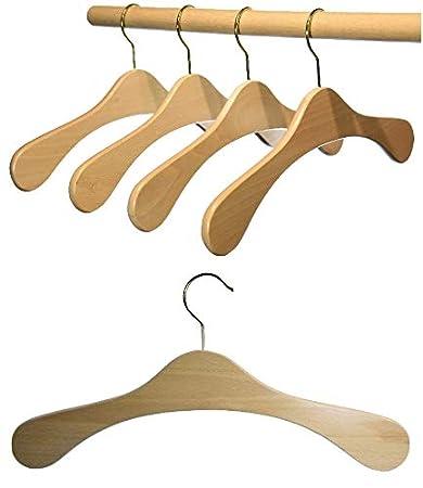 Garderobenb/ügel aus Buchenholz Nu/ßbraun dunkel gebeizt Hagspiel Kleiderb/ügel aus Holz 5 Stk