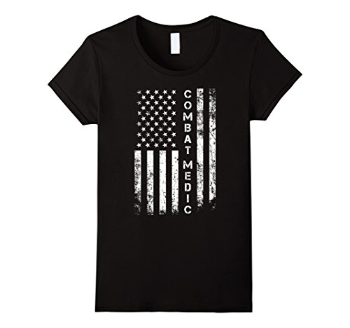 Women's Combat Medic Shirt - Combat Medic with American F...