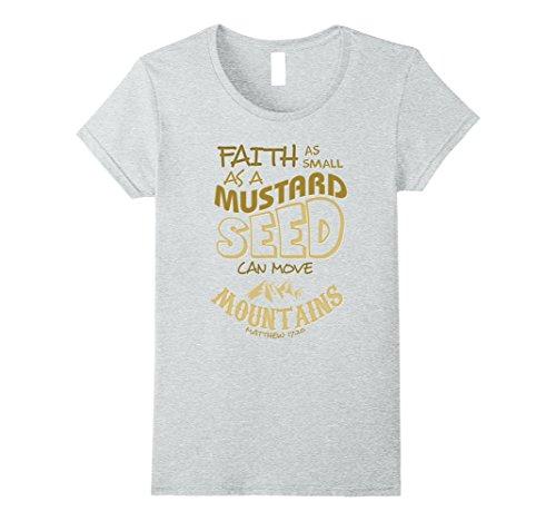 Womens Faith as Mustard Seed can Move Mountains Christian...