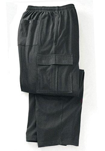 KingSize Jersey Knit Cargo Pants, Heather Charcoal Big-3Xl Cargo Pants Charcoal