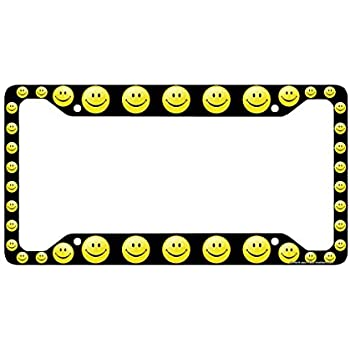 Amazon Com Airstrike Smiley Face License Plate Frame