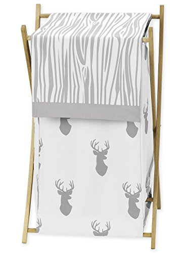 Sweet Jojo Designs Baby Children Kids Clothes Laundry Hamper for Grey and White Woodland Deer Bedding Set by Sweet Jojo Designs