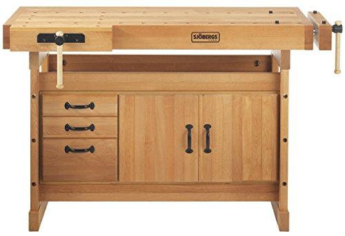 Sjobergs SJO-66736K Scandi Plus 1825 Work Bench & SJO-33457 SM03 Storage Cabinet Package by Sjobergs