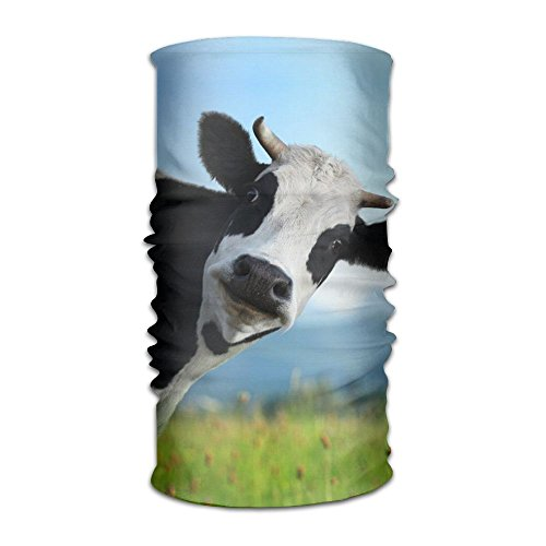 Funny Cow Logo DIY Pattern Headband Bandana Mask Sports Seamless Breathable Hair Band Turban For Workout, Fitness, Running, Cycling, Yoga